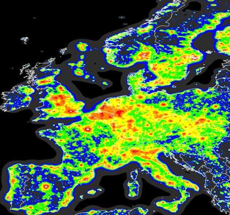 Dark Sky Discovery - Us light pollution map